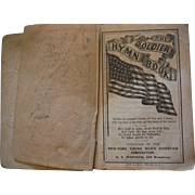 1861 Patriotic Military Soldier's Hymn Pocket Book Civil War Songs Signed Possible Soldier Antique