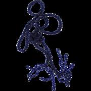 BG170 Art Deco Flapper 50 inch Midnight Sapphire Blue Seed Glass Bead Woven Necklace Satoir Tassel or belt
