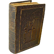 Beautiful Miniature Dutch Netherlands Prayer Book Bible 1889 Victorian Heavily Embossed Leather
