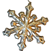 BG4 1980 Gorham Silverplate Christmas Ornament in Box Vintage Snowflake Sterling Plated