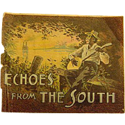 Black Americana Negro Echoes From The South Victorian Advertising Trade Card TC Yer Baby's Comin' To Town Sheet Music Antique