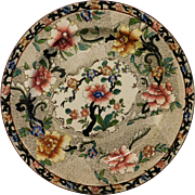 Antique Art Nouveau Stoke On Trent John Hancock & Sons Plate 9.5inch Cheng Chinese Rose Oriental Plate 1700s Reproduction