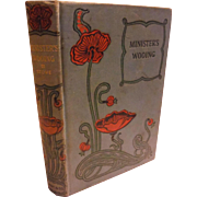 1890 Victorian Book The Minister's Wooing by Harriet Beecher Stowe New England Antique Decorative Poppy Cover & Spine