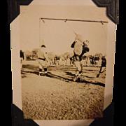 Art Deco 1920s 1930s University of Michigan State MSU MSC Football Photograph Album Vintage Michigan College