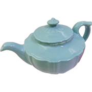 Great Vintage 1940s Hall Birch Blue Victorian Series Pottery Teapot