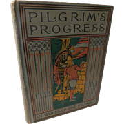 Antique Victorian 1895 John Bunyan's Pilgrim's Progress Reading Book for Children Illustrated Done in Words of One Syllable