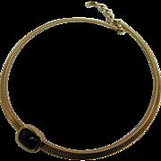 Christian Dior Black Glass Center Mesh Collar Choker Necklace