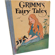 Victorian Antique Grimm's Fairy Tales Childrens Book Illustrated Donahue & Co. Cinderella Hansel and Gretel