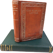 Antique Nathaniel Hawthorne Books The Scarlett Letter & Twice Told Tales 1894 Victorian