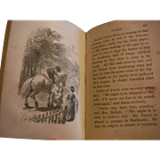 1862 Cheerily, Cheerily Victorian Antique Book Sarah Schoomaker American Tract Society Children Moral Instruction Illustrated