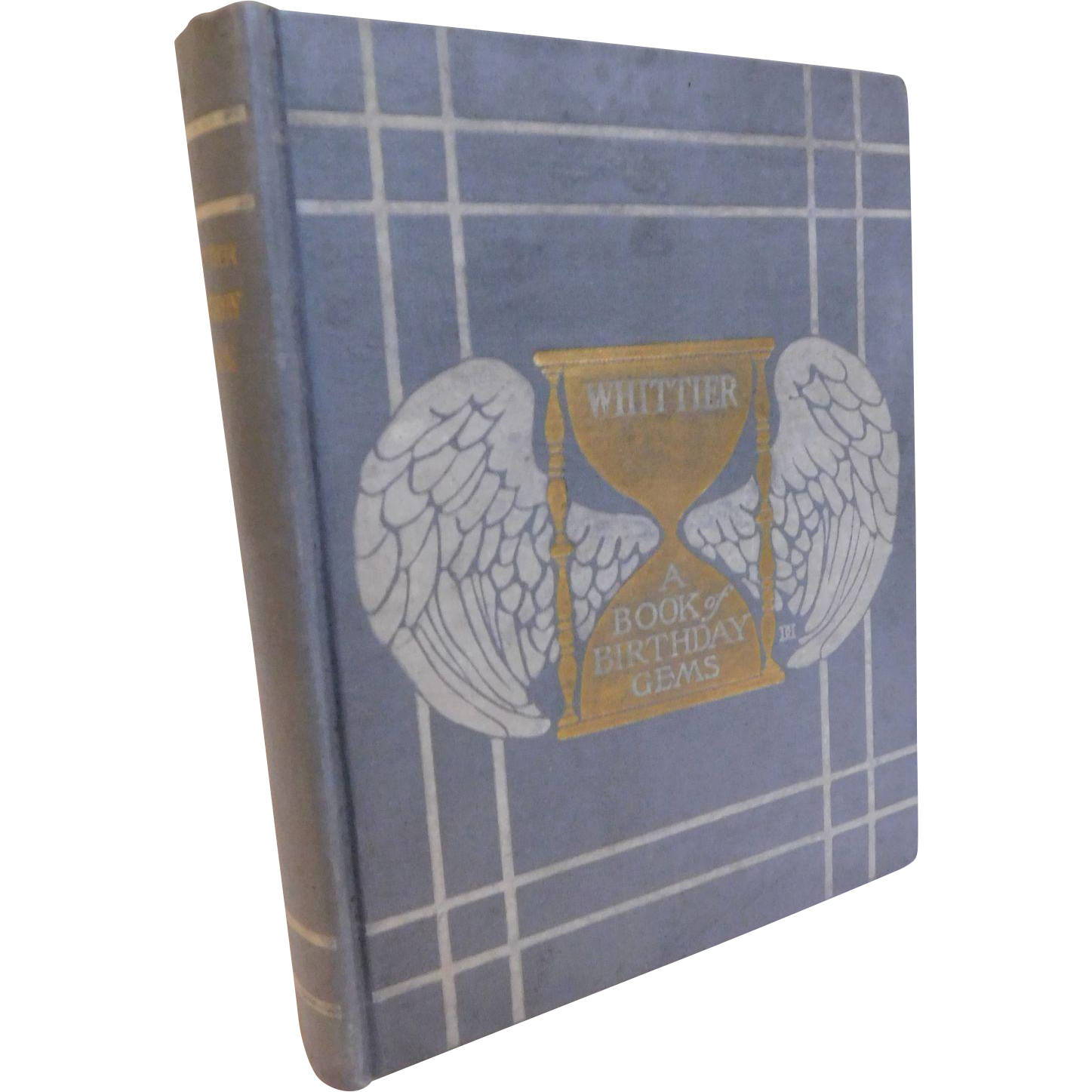 1905 Whittier's Birthday Book of Memory Gems Illustrated Poems For Day By Day Daily Poem Antique Book