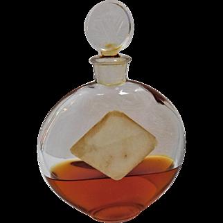 Art Deco Lalique Worth Je Reviens Glass Perfume Bottle Scent