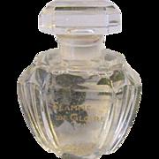 Baccarat 1920s Flamme De Gloire Pleville Paris Crystal Glass Perfume Bottle 4inch Art Deco Vintage