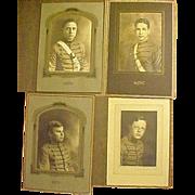 Lot 4 ART DECO Portrait Photo West Point Culver Howe Military Academy Cadet 1929 - Red Tag Sale Item