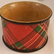 Victorian Tartanware Napkin Ring - MacFarlane tartan - some damage