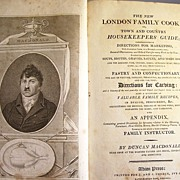 Rare 1811 Cookbook - The London Family Cook or Town and Country Housekeeper's Guide - Red Tag Sale Item
