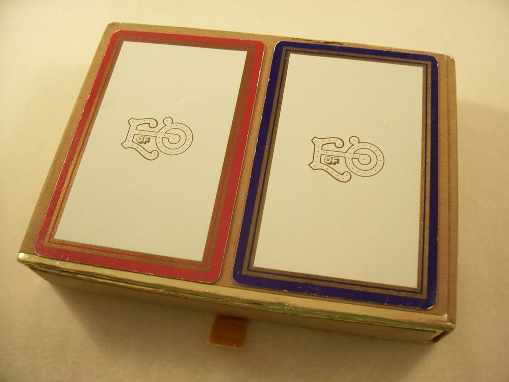 Vintage Bridge 2 Deck Card Set - Mardi Gras Favor - Elves of Oberon