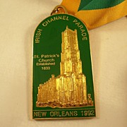 Nice Enamelled Medallion - New Orleans St. Patrick's Day Parade 1992