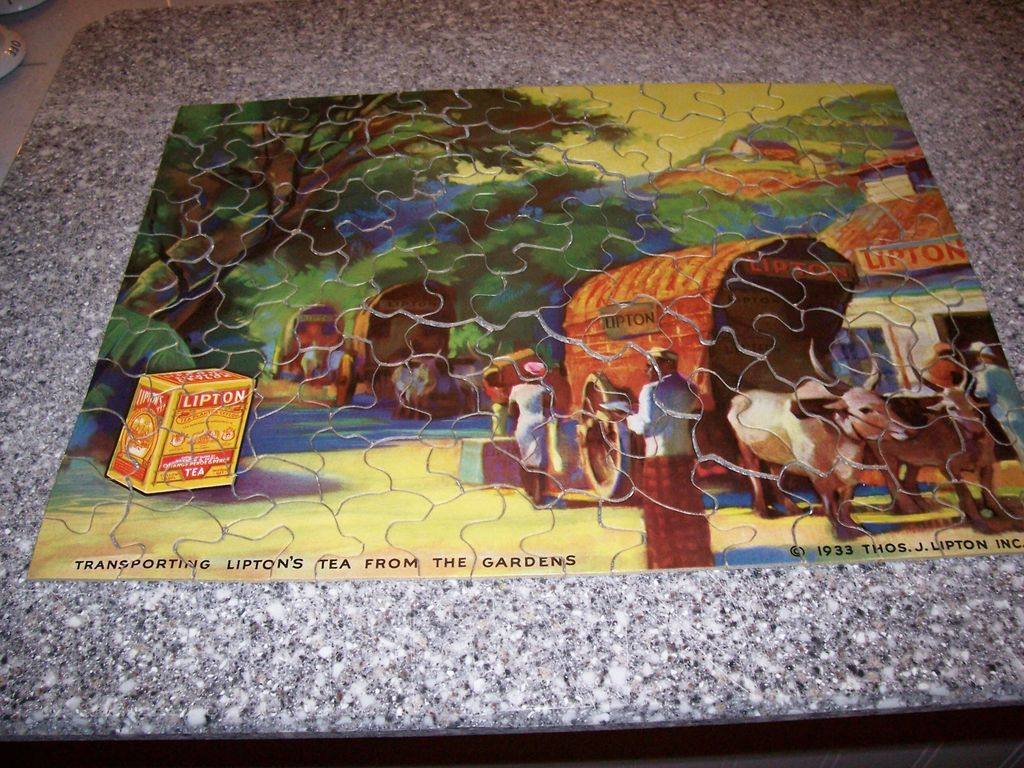Wonderful Vintage Advertising Puzzle - Lipton Tea 1933 - Complete with Envelope!