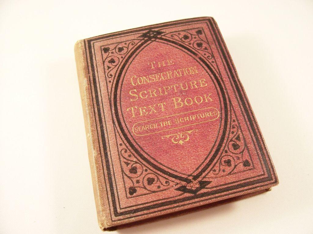 Miniature Book - Consecration Scripture Text Book - Victorian, 1883