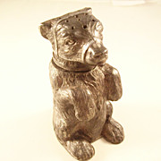 Wonderful Victorian Figural Bear Pounce Pot Sander