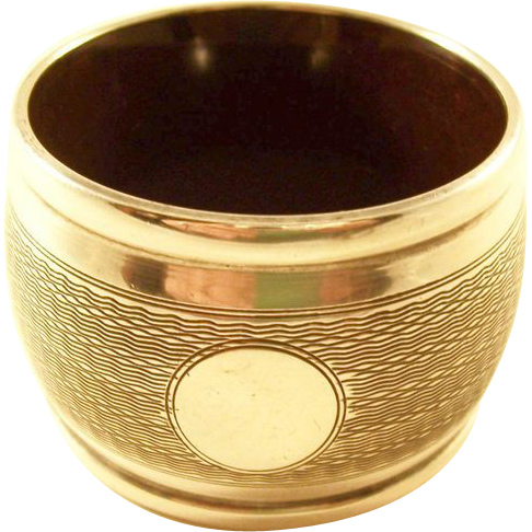 Large Sterling Art Deco Napkin Ring - English, 1930