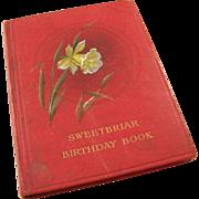 Vintage 1915 English Birthday Reminder Book - Sweetbriar