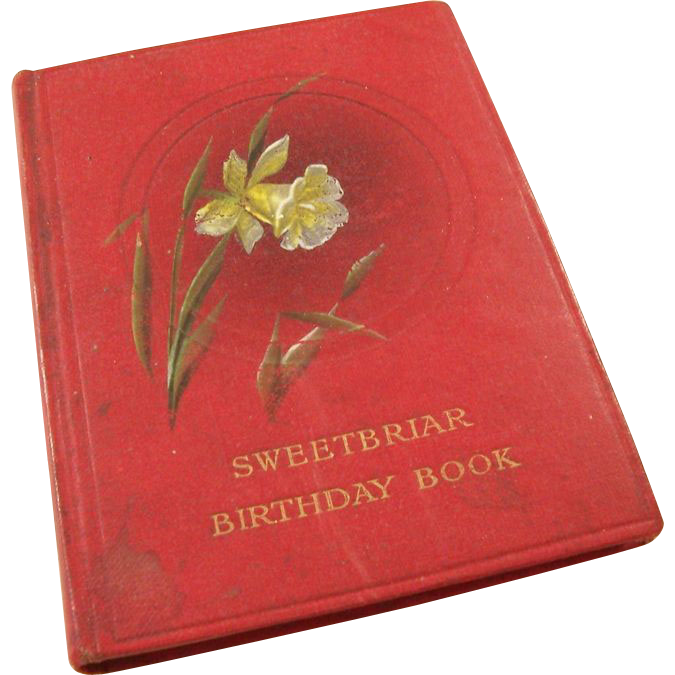 Vintage 1915 English Birthday Reminder Book - Sweetbriar from bagatelle on Ruby Lane