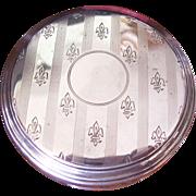 Antique Edwardian Dresser Jar - Sterling Lid - Fleur di Lis - 1910