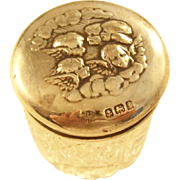 Sweet Edwardian Sterling Dresser Jar - Reynold's Angels - 1908