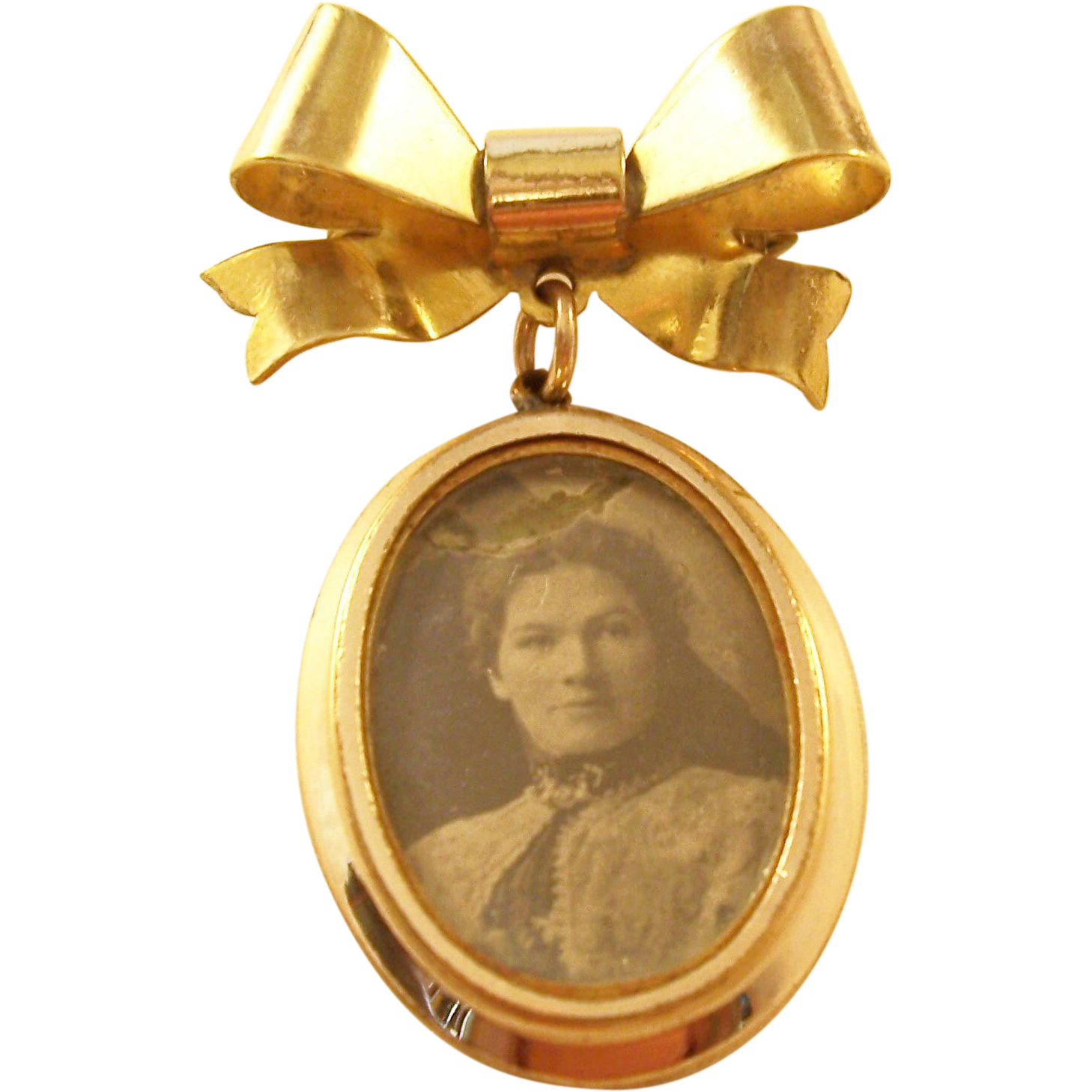 Vintage Double Photo Locket - English - Rolled Gold - a beauty!