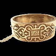 Sterling Victorian Bangle Bracelet - Celtic Design - 1876
