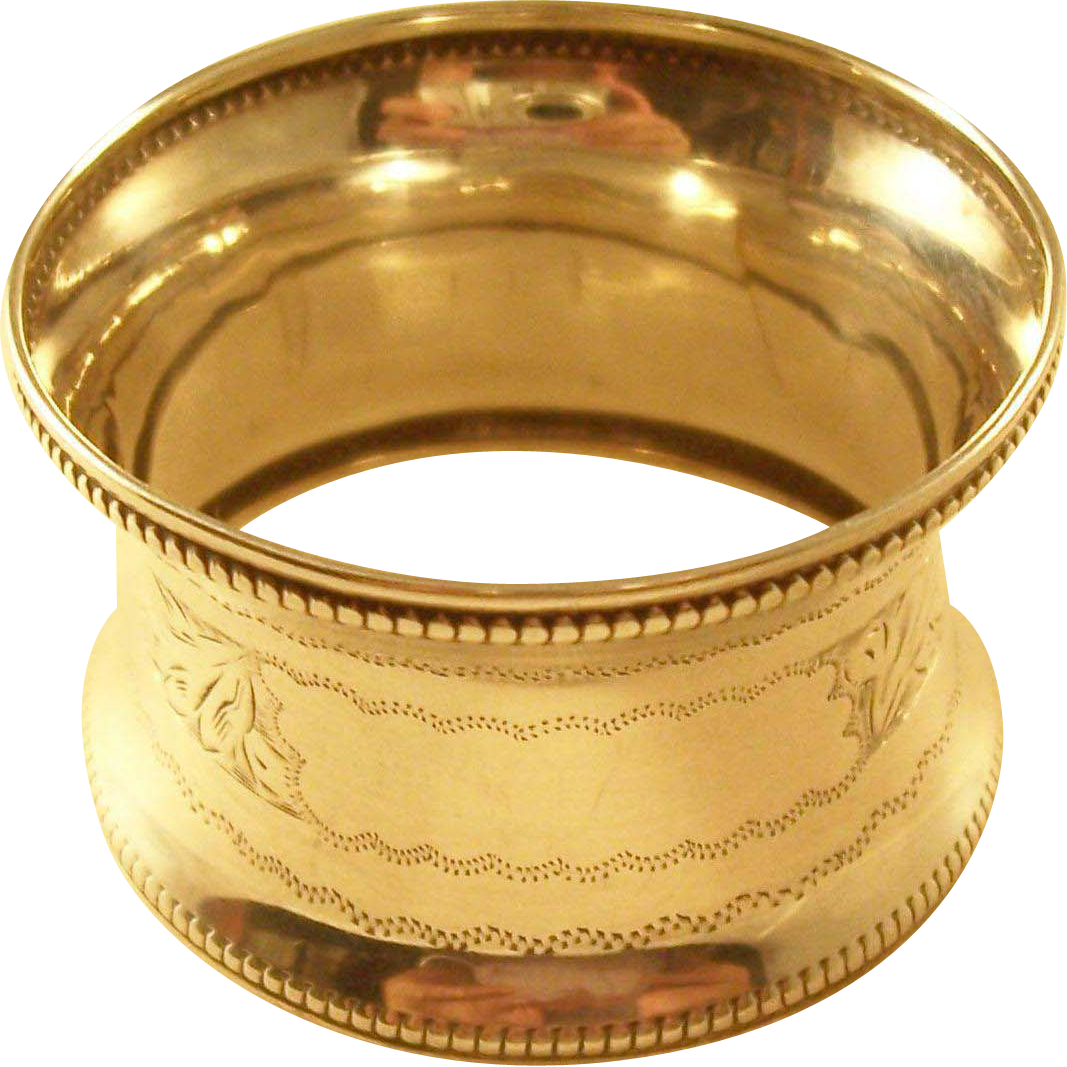 Sterling Napkin Ring - English, 1921