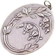 Lovely Art Nouveau Silverplated Chatelaine Mirror - French, ca. 1908