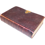 Victorian personal Leather Bound Book of Common Prayer and Bible combo with Brass Clasp - Illustrated, ca. 1850