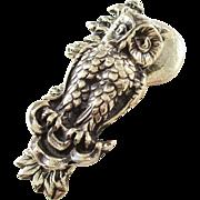 Charming English Brass Owl Door Knocker