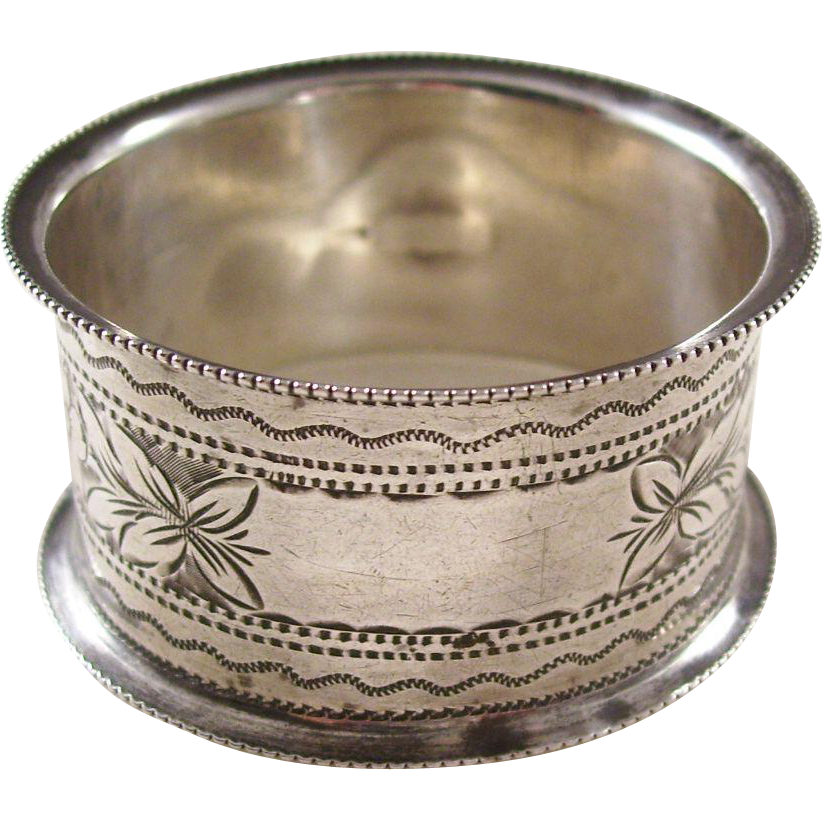 Edwardian Sterling Silver Napkin Ring - English, 1904