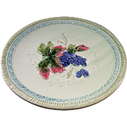 Lovely Vintage Majolica Plate - Grapes
