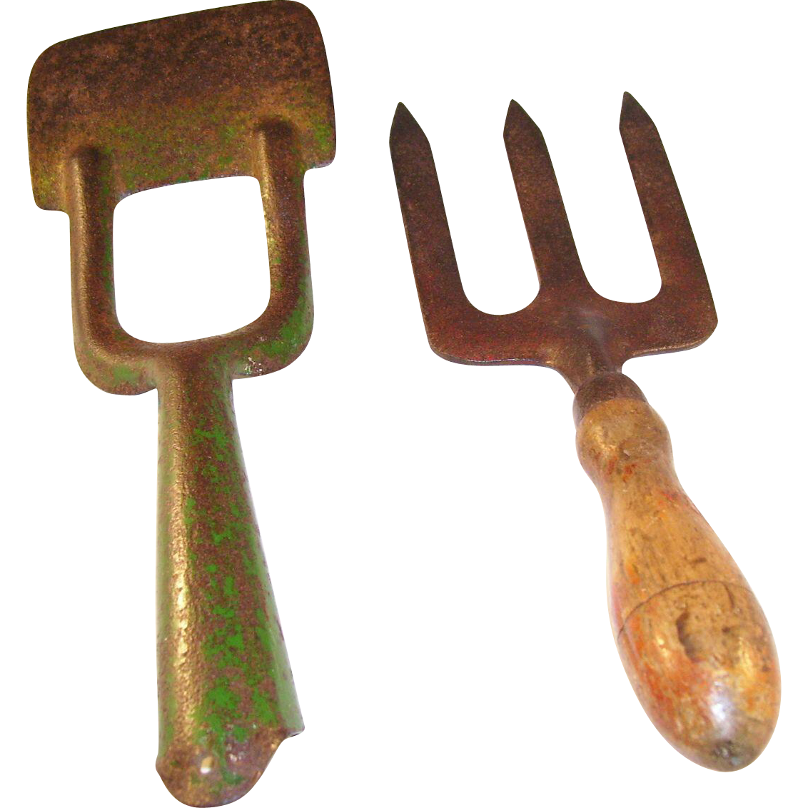 Pair of Vintage English Gardening Tools - Spade & Trowel