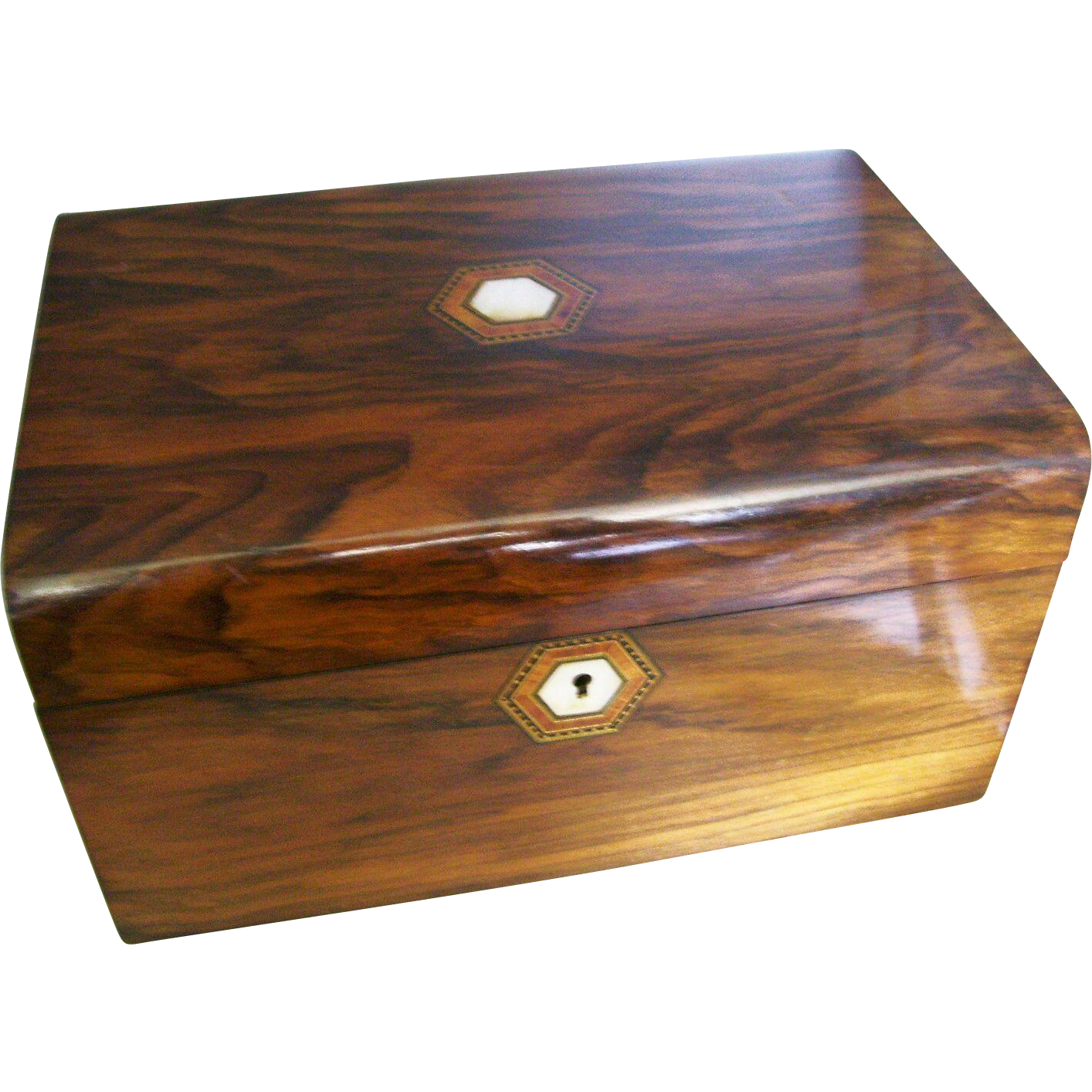 Lovely English Walnut Victorian Work or Sewing Box - ca. 1870