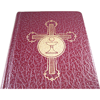 Lovely Pre-Vatican II Hardcover Catholic Missal - Illustrated - English edition - a Beauty!