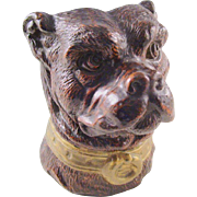 Antique Pen Holder or Desk Caddy - Figural Dog head - a handsome piece!