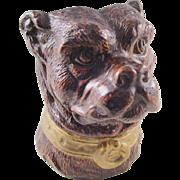 Antique Pen Holder or Desk Caddy - Figural Dog head - a handsome piece!