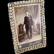 Classic Antique English Edwardian Wedding Ring Photo Frame