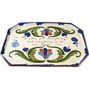 Wonderful Vintage Torquay Dresser Tray - Everything in its Place