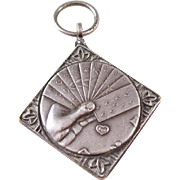 Whimsical Bridge Sterling Silver Charm or Fob - Award Piece 1963
