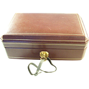 Classic Mappin & Webb Leather Jewelry Case with Key - Lady or Gent