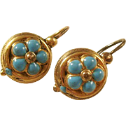 Charming Pinchbeck French Victorian Earrings - Primrose