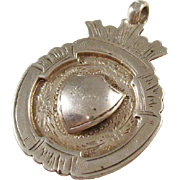 English Sterling Silver Shield Fob - 1927