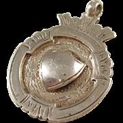English Sterling Silver Shield Fob - 1927
